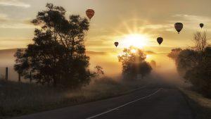globo aerostático camuflaje Ruswell